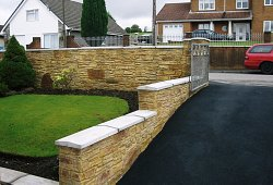 Walling and Drive